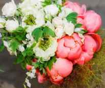 Bruidswerk met pioenen